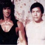 Carter Wong and Sylvester Stallone